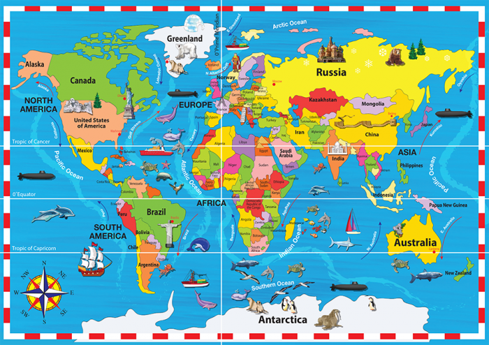 World map puzzle inspire2learn gumiabroncs Image collections